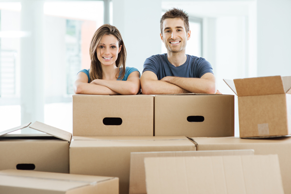 Couple getting ready to move to new home