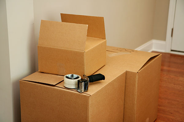 Boxes and other supplies needed for moving